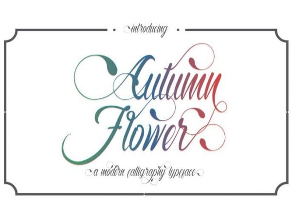 Autumn Flower Elegant Calligraphy Script Font