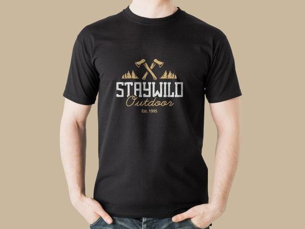 Black T-shirt Mockup PSD Template