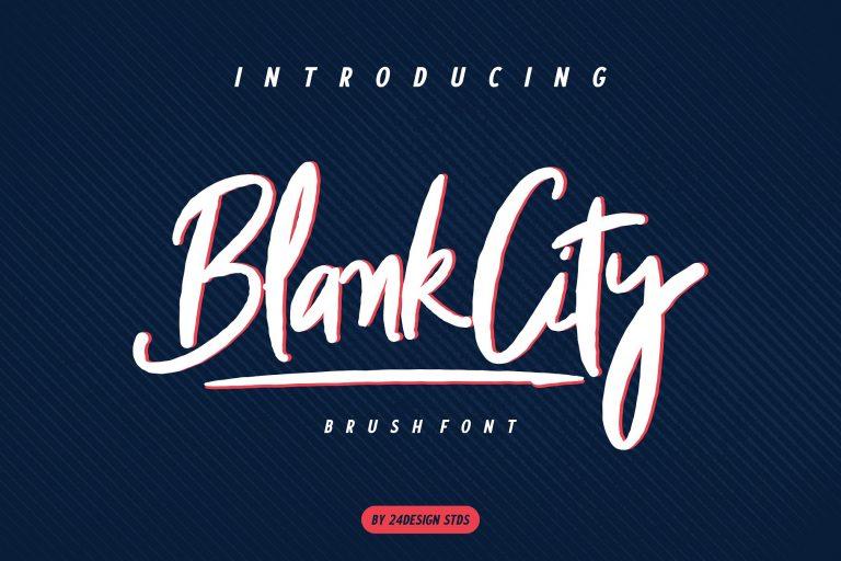 Blank City Modern Brush Script Font