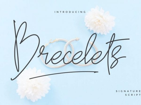 Brecelets Handwritten Signature Font