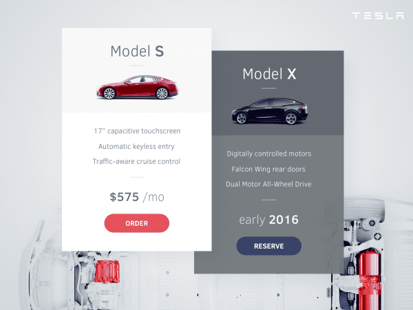 Cars Pricing Table PSD Template