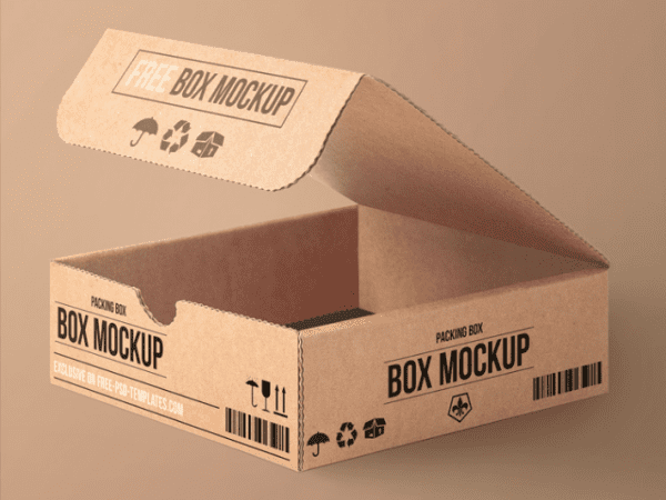 Carton Packing Box MockUp PSD Template