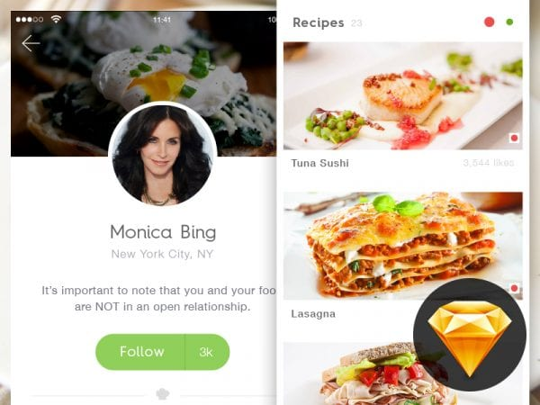 Chef App Design In PSD