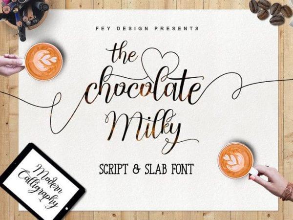 Chocolate Milky Modern Calligraphy Script Font
