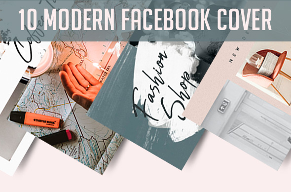 Collection Of 10 Facebook Cover Template PSD