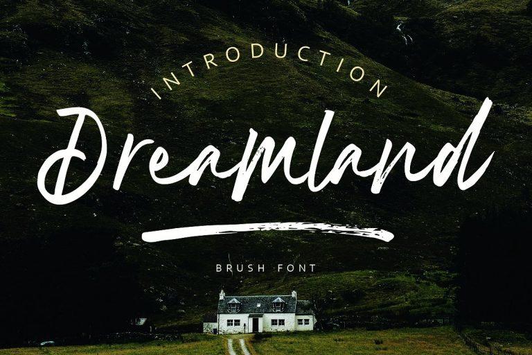 Dreamland Handwritten Brush Script Font