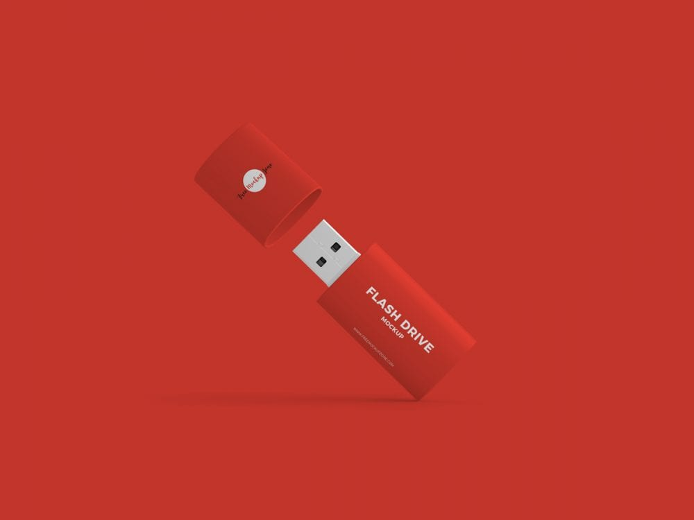 Flash Drive Mockup PSD Template