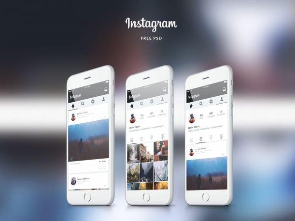 Free Instagram App UI Design