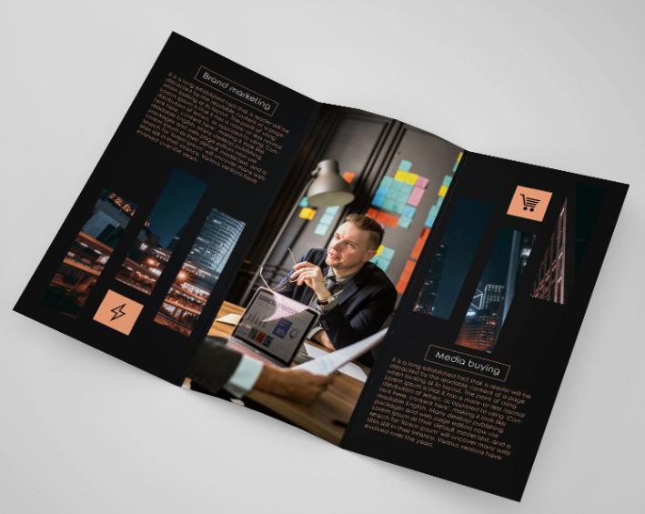 Free Marketing Company Tri Fold Brochure Template Psd Mockup Free