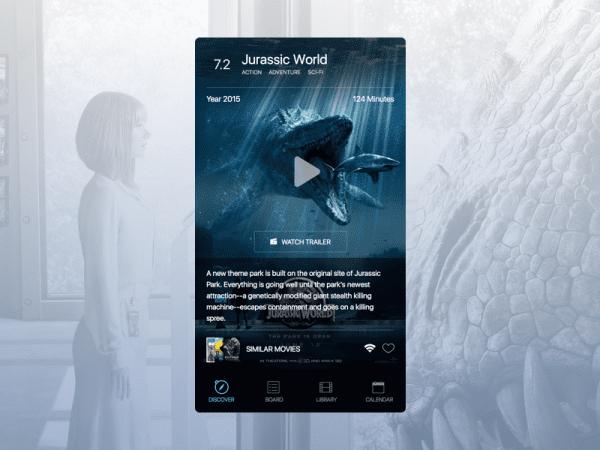 Free Movie App Design In PSD