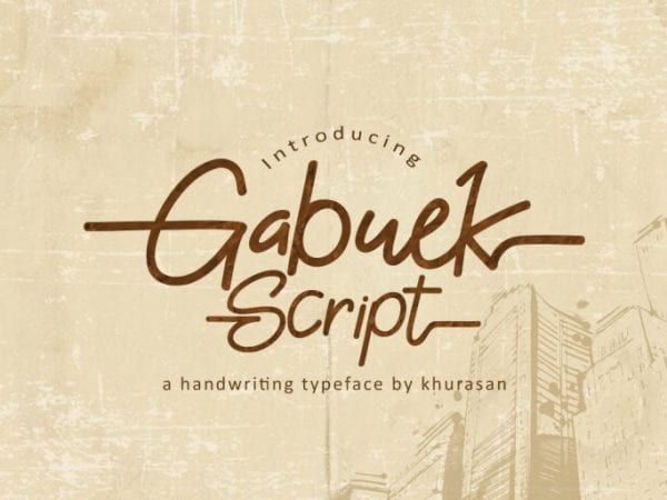 Gabuek Modern Handwriting Font