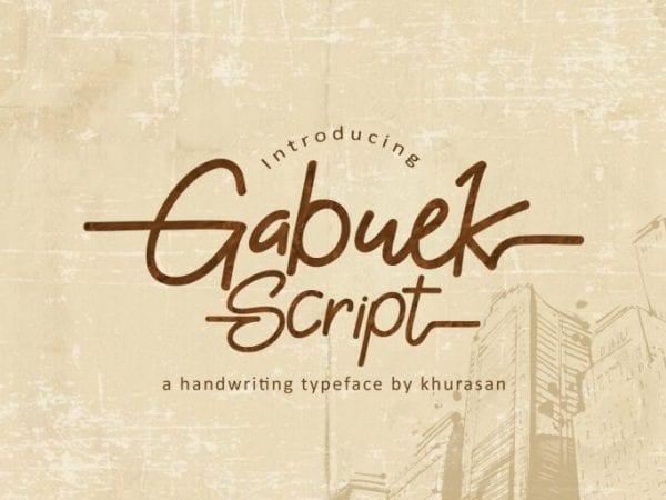 Gabuek Modern Handwriting Font