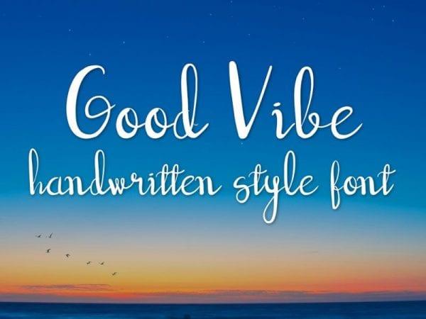 Good Vibe Modern Handwritten Script Font