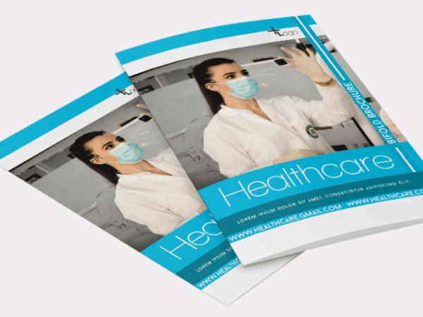 Healthcare Bifold Brochure PSD Template