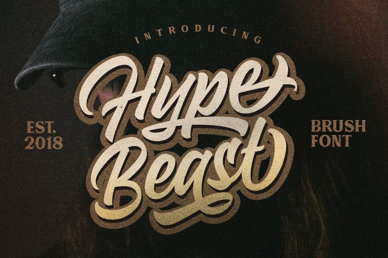 Hypebeast Calligraphy Brush Script Font
