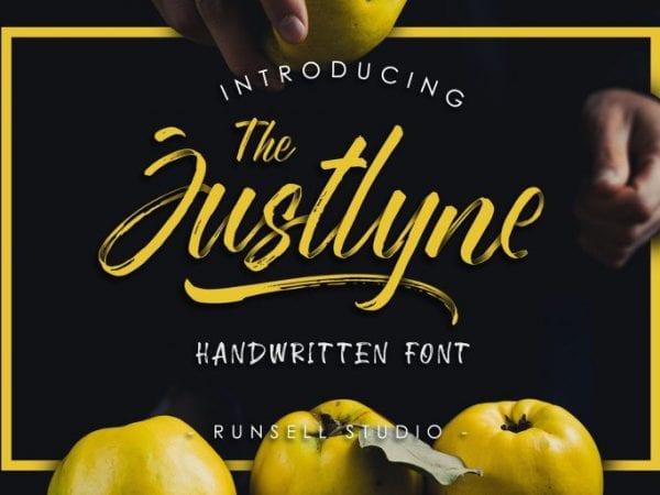 Justlyne Free Brush Script Font