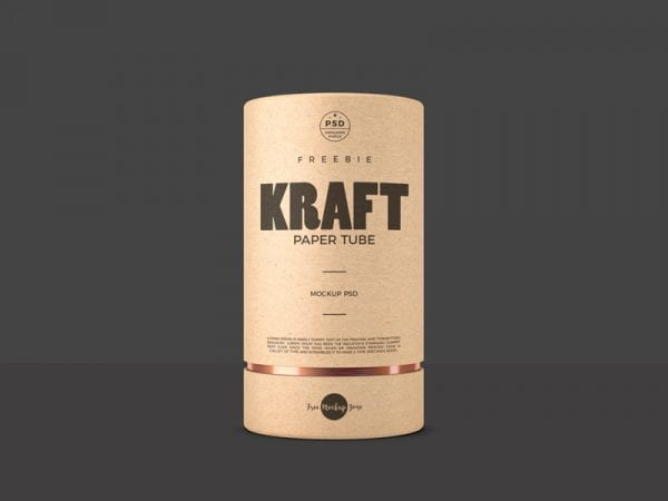 Kraft Paper Tubes PSD Mockup Template