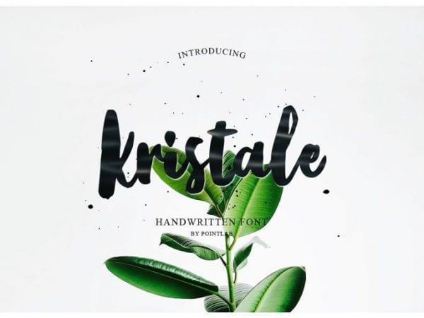 Kristale Free Brush Script Font