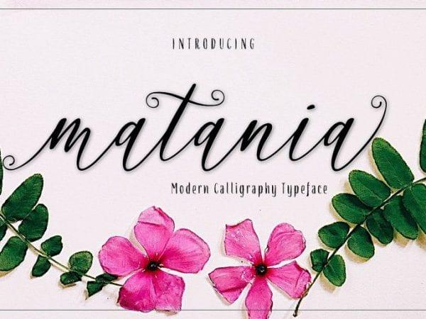 Matania Modern Signature Font