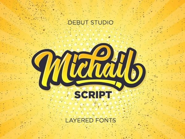 Michail Modern Calligraphy Typeface