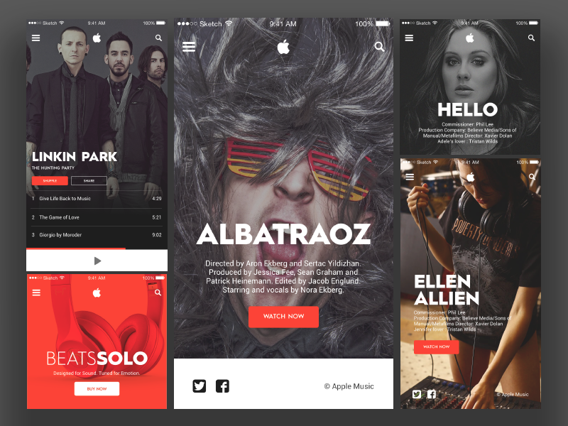 Music Player App Design In PSD