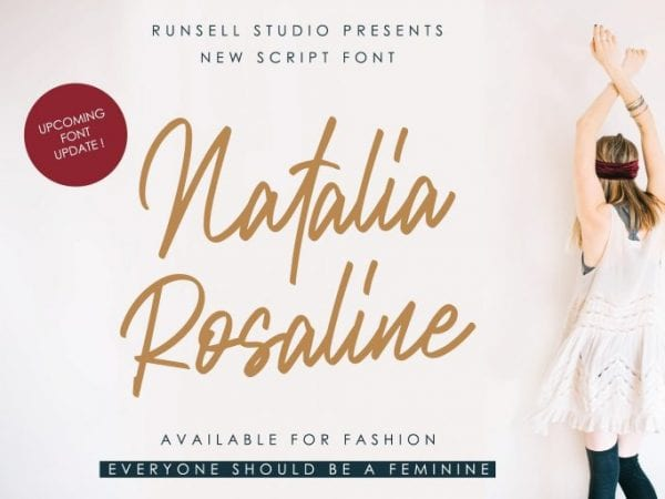 Natalia Rosaline Handwritten Script Font