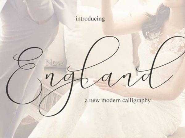 New England Calligraphy Script Font