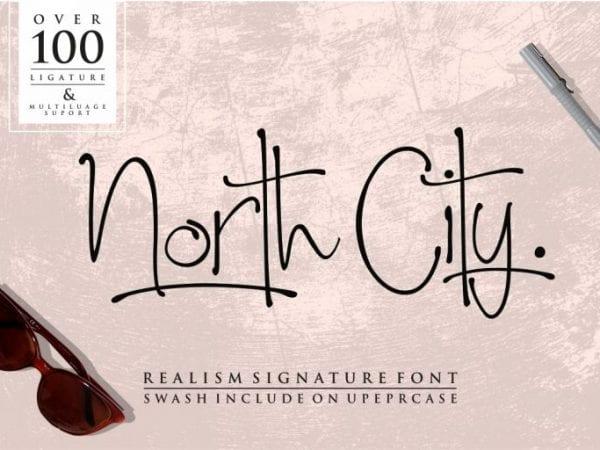 North City Handwritten Script Font
