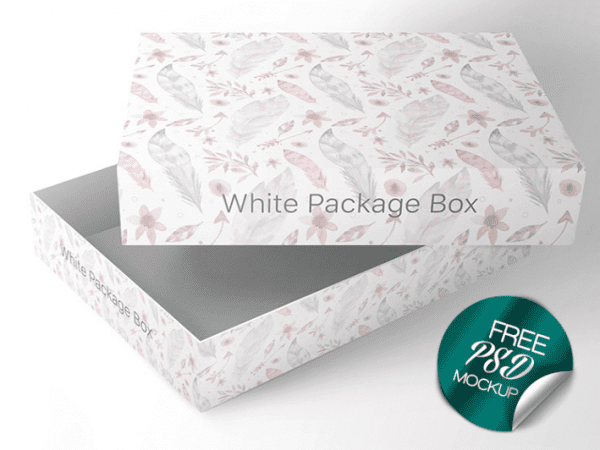 Packaging Box PSD Mockup Template