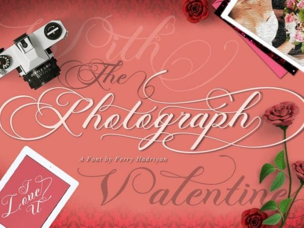 Photograph Calligraphy Script