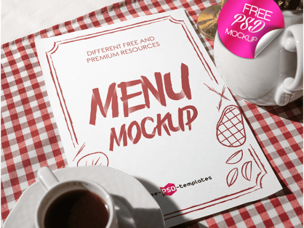 Restaurant Menu PSD MockUp Template