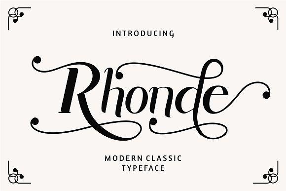 Rhonde Free Classic Typefaces