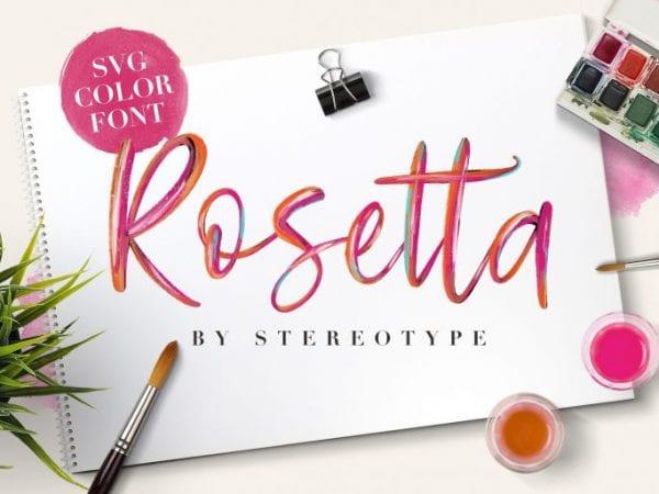 Rosetta Modern Brush Script Font