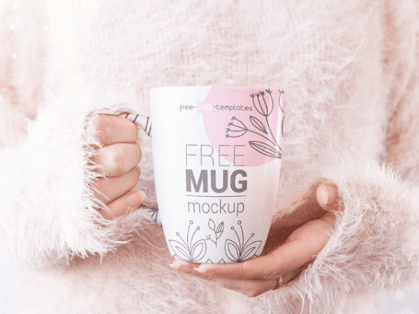 Set Of 5 Mug MockUp PSD Free Templates