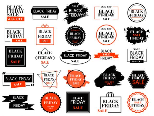 Set Of 50 Free Black Friday Label