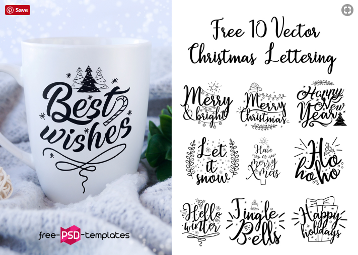 Set Of Free Christmas Letter Vector