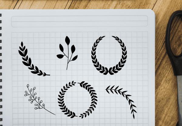 Set Of Free Laurel & Wreath Vector
