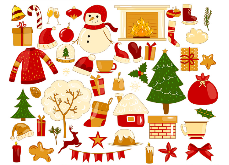 Set Of Winter Vector Free Patterns