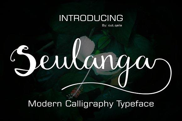 Seulanga Free Handwritten Calligraphy Font