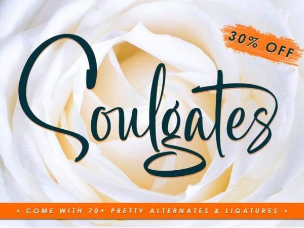 Soulgates Gorgeous Brush Script Typeface