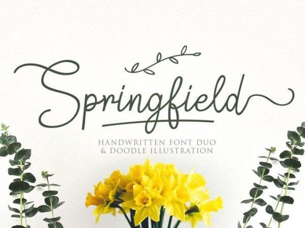 Springfield Free Handwritten Script Font