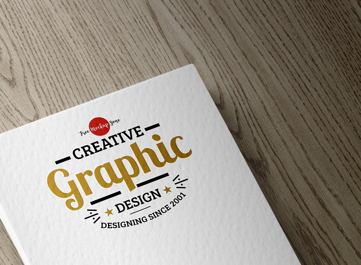Textured Logo Mockup PSD Template