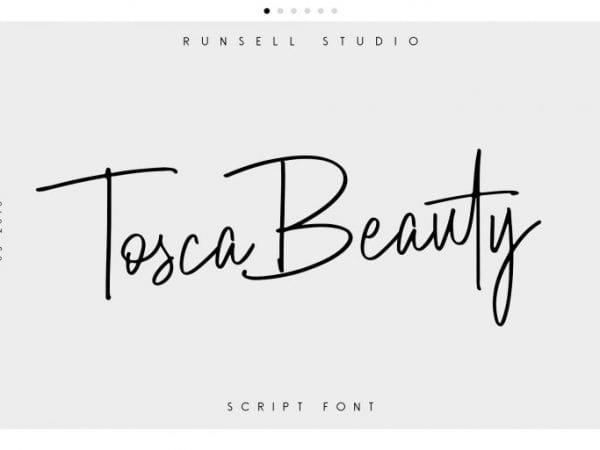 Tosca Beauty Elegant Handwritten Script Font