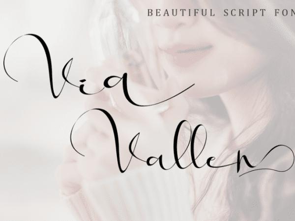 Via Vallen Calligraphy Script Font