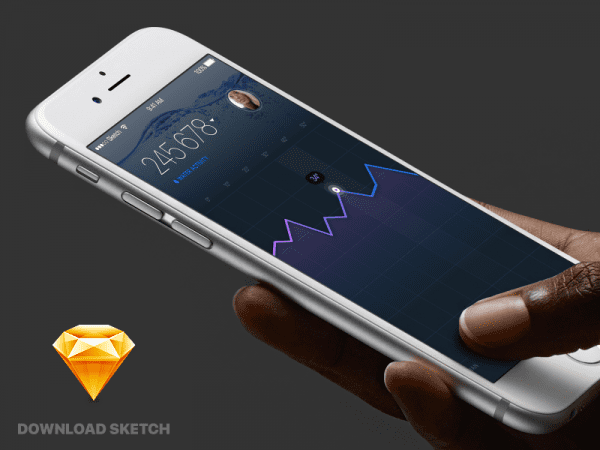 Water App Sketch In PSD