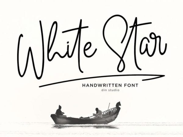 White Star Handwritten Script Font