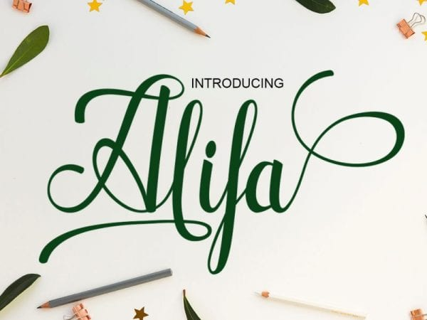 Alifa Calligraphy Script Font