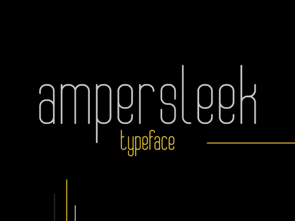 AmperSleek Retro Sans Serif Fonts