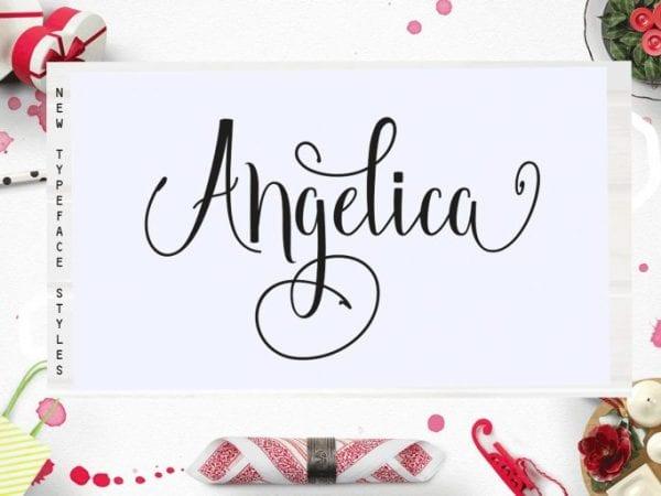 Angelica Free Handwritten Script Font