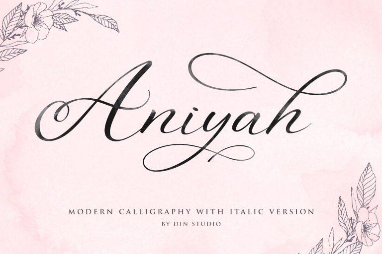 Aniyah Modern Calligraphy Script Font